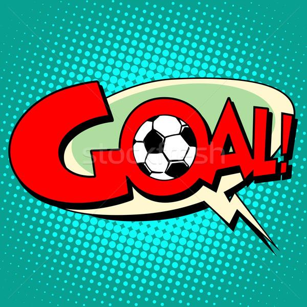 Goal football comic style text Stock photo © studiostoks