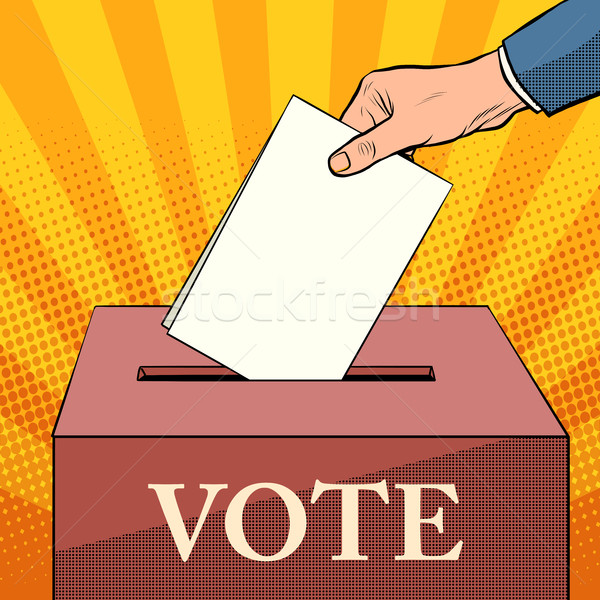 voter ballot box politics elections Stock photo © studiostoks