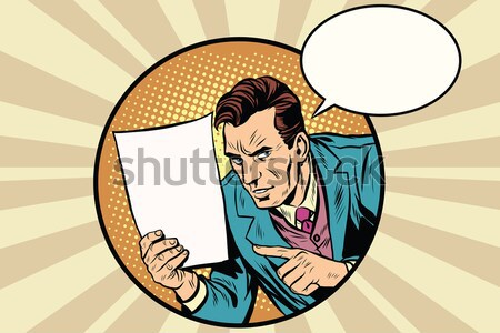 Сток-фото: бизнесмен · ретро · плакат · Поп-арт · вектора · человека