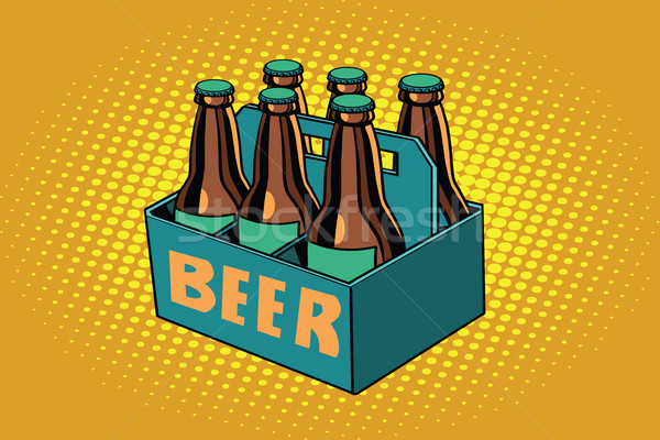 beer packaging, illustration Stock photo © studiostoks