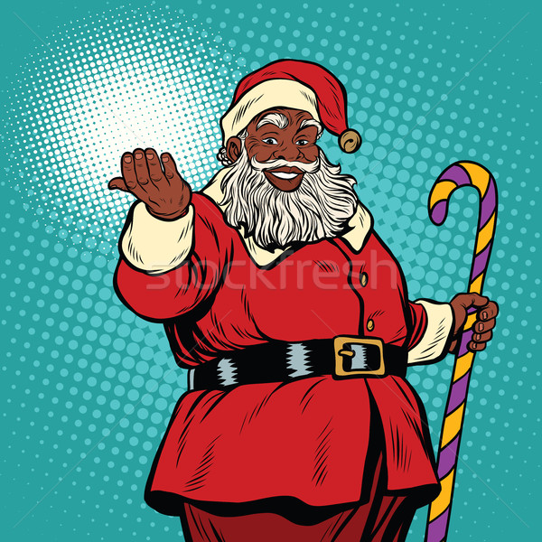 African American black Santa Claus Stock photo © studiostoks
