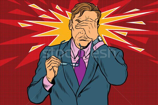 眼 痛み 疲労 貧しい ビジョン ポップアート ストックフォト © studiostoks