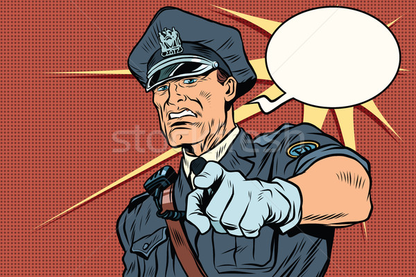 Vintage police officer COP arrests Stock photo © studiostoks