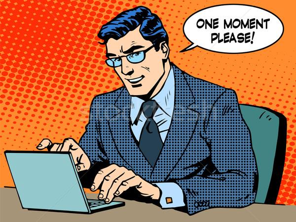 Dienst business zakenman computer een moeder Stockfoto © studiostoks