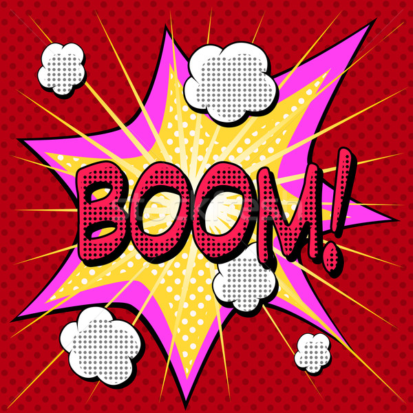 Boom comic book style explosion Stock photo © studiostoks