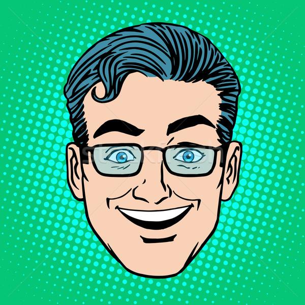 Emoji smile laughter man face icon symbol Stock photo © studiostoks