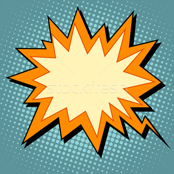explosion comic bubble retro background for text Stock photo © studiostoks