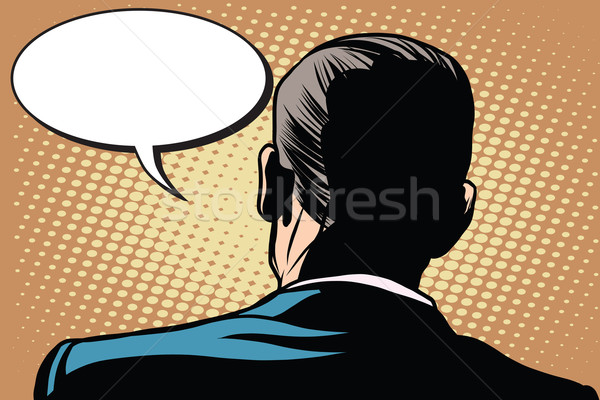 Male back comic bubble conversation communication Stock photo © studiostoks