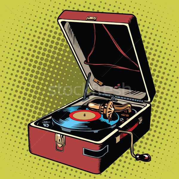 Vinilo tocadiscos arte pop retro vector música Foto stock © studiostoks