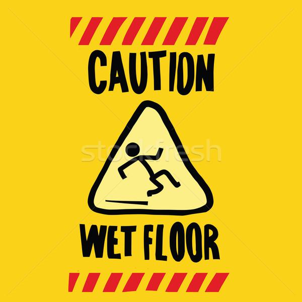 caution wet floor Stock photo © studiostoks