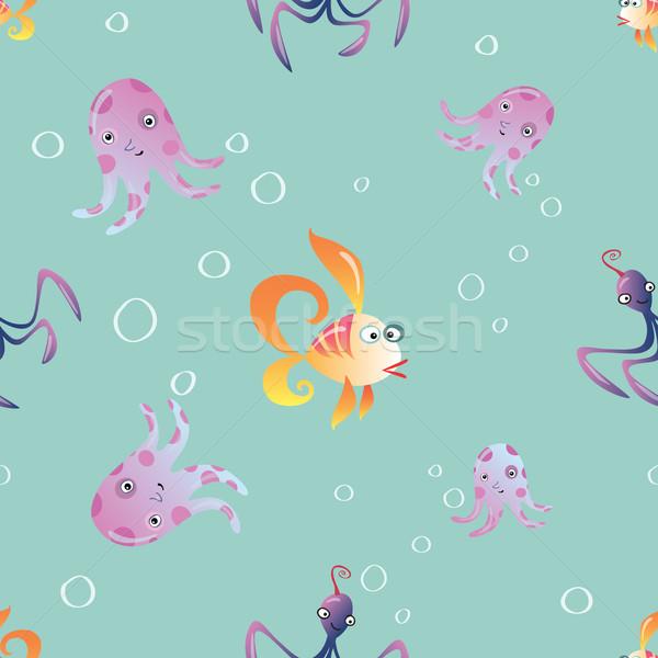 Mariene oceaan dieren vector papier Stockfoto © studiostoks