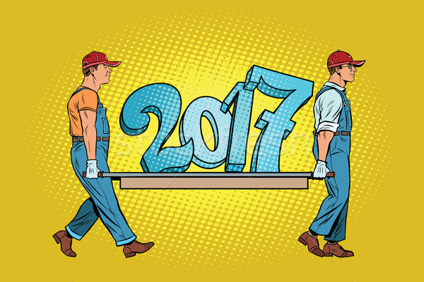 The ending 2017, figures carry movers Stock photo © studiostoks