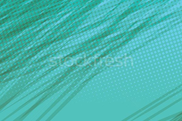 Groene kant effect vintage pop art retro Stockfoto © studiostoks