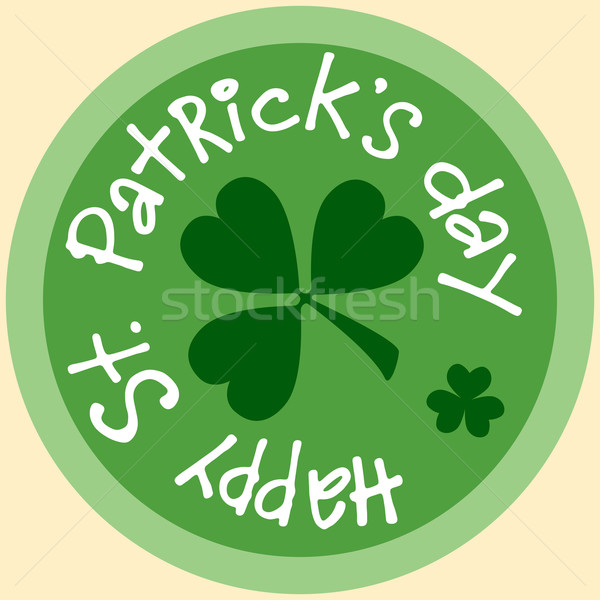 Day Patrick beer Mat coin icon symbol sticker Stock photo © studiostoks