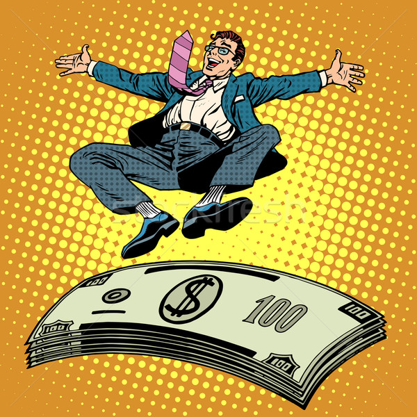 Business success businessman money trampoline Stock photo © studiostoks