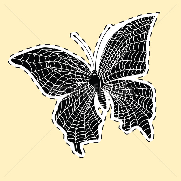 Dark butterfly web label sticker Stock photo © studiostoks