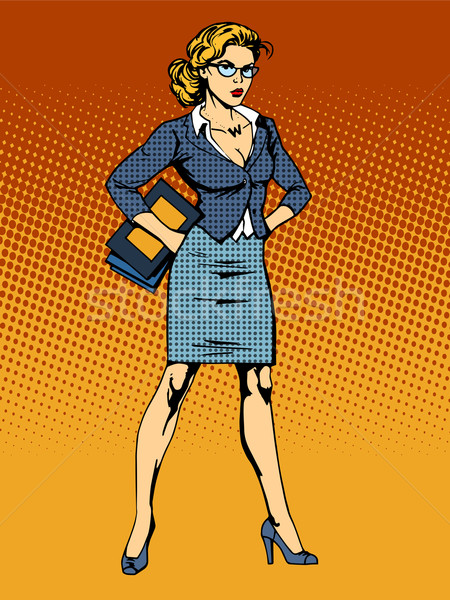 businesswoman superhero woman vamp Stock photo © studiostoks