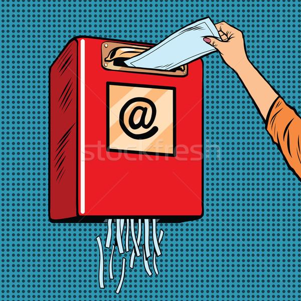 Spam szemét kacat email pop art retro Stock fotó © studiostoks