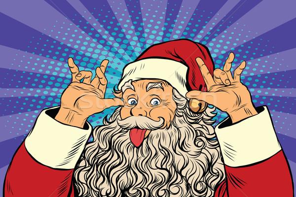 Kerstman goede zin humor pop art retro Stockfoto © studiostoks