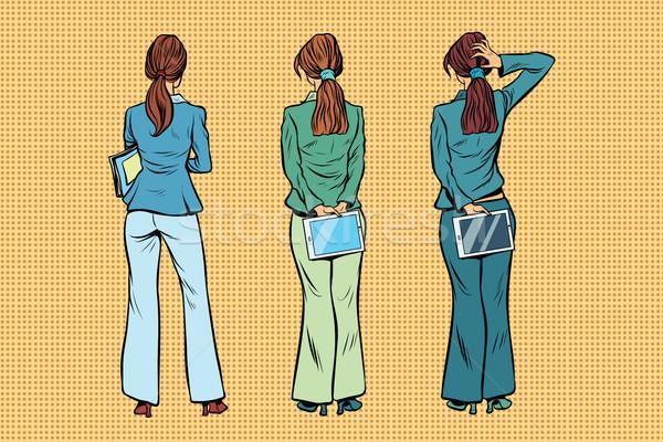 Slim businesswoman in Trouser suits are back Stock photo © studiostoks