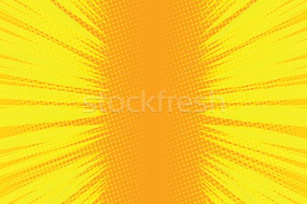 Orange rays pop art comic background Stock photo © studiostoks