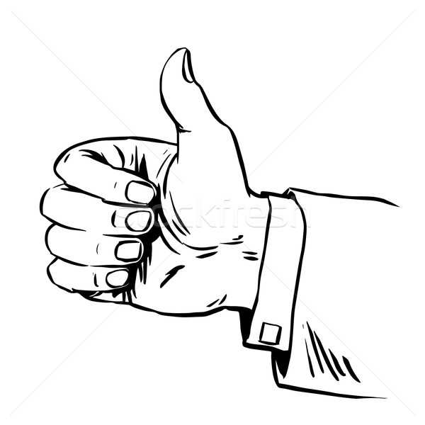Gesture everything is fine thumb up business concept hitchhiking Stock photo © studiostoks