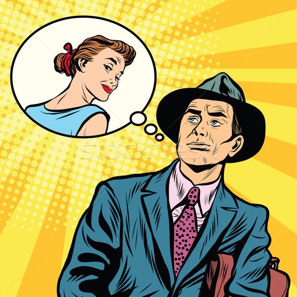 Man thinks about a woman Stock photo © studiostoks