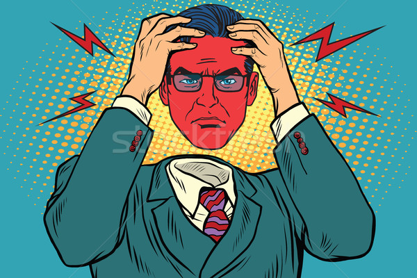 Anger or headache in men Stock photo © studiostoks