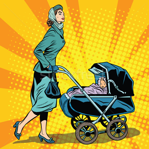 mom and stroller with baby Stock photo © studiostoks
