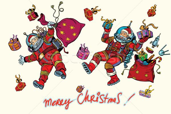 Uzay noel baba sıfır yerçekimi Noel hediyeler Stok fotoğraf © studiostoks