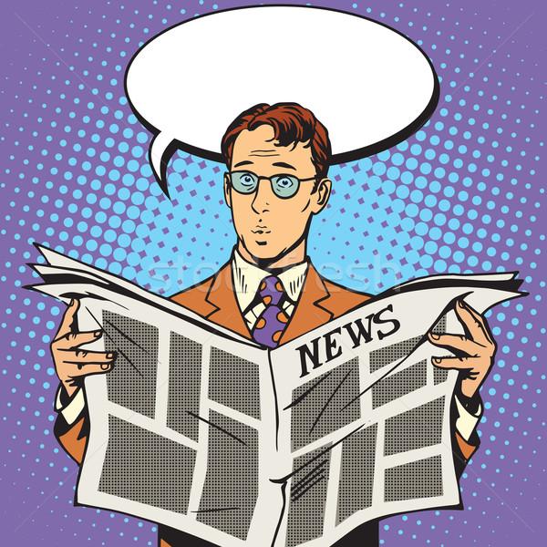 newspaper news surprise reader Stock photo © studiostoks