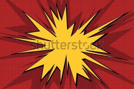 Képregény robbanás pop art retro absztrakt háttér Stock fotó © studiostoks