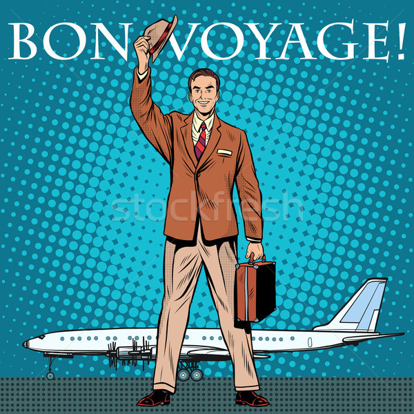 Bon voyage businessman passenger airport Stock photo © studiostoks