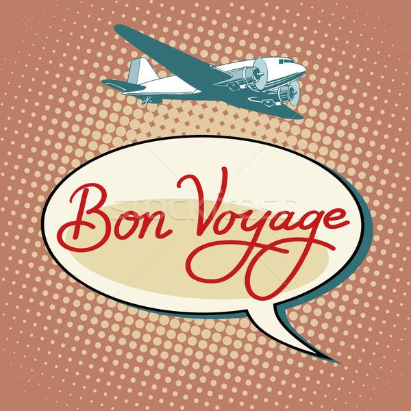 Bon voyage plane tourism flights Stock photo © studiostoks