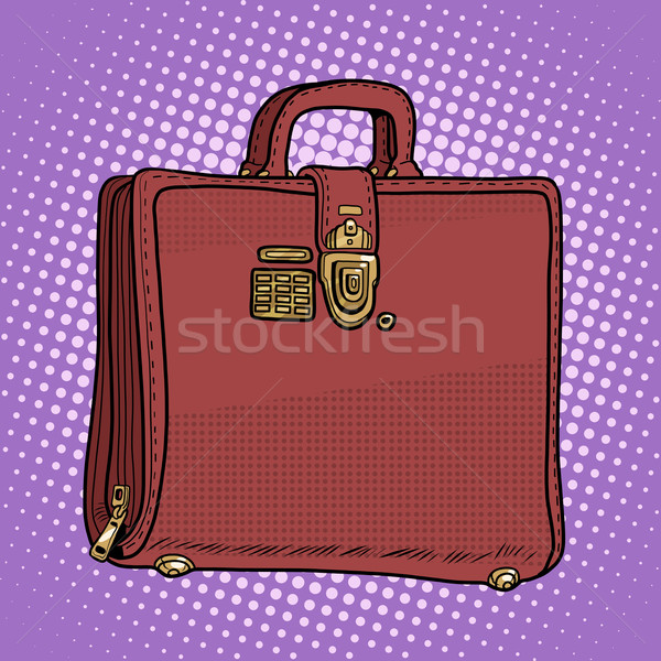 Case leather bag business businessman style Stock photo © studiostoks