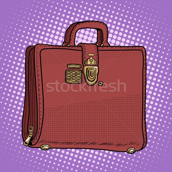 Durum deri çanta iş işadamı stil Stok fotoğraf © studiostoks