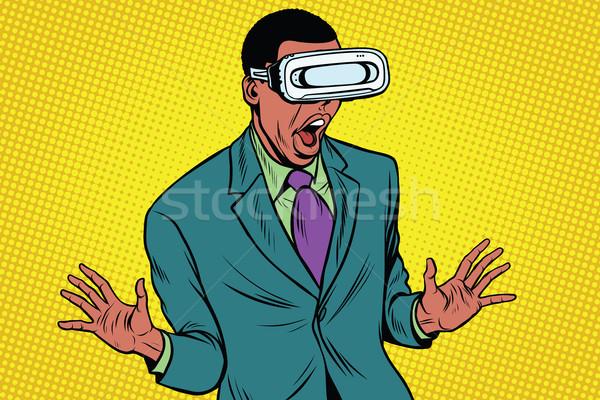 Verres ordinateur réalité Photo stock © studiostoks
