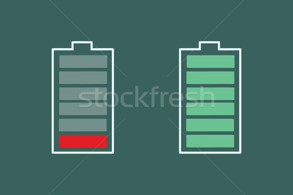 battery charge is small and full Stock photo © studiostoks