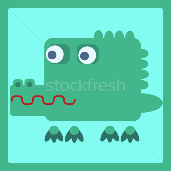 crocodile stylized cartoon icon Stock photo © studiostoks