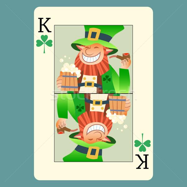 Spelen kaart koning groene dag Stockfoto © studiostoks
