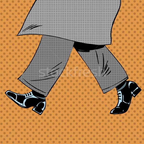 Masculino pé sapatos vento casaco Foto stock © studiostoks