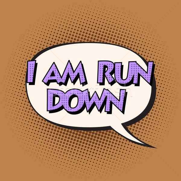 i am run down retro comic bubble text Stock photo © studiostoks