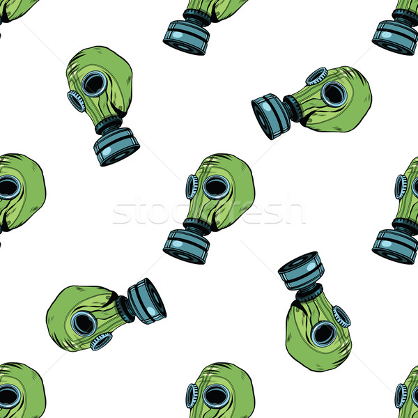 Gas mask seamless vector pattern Stock photo © studiostoks