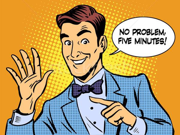 Usługi pięć protokół biznesmen działalności finansów Zdjęcia stock © studiostoks