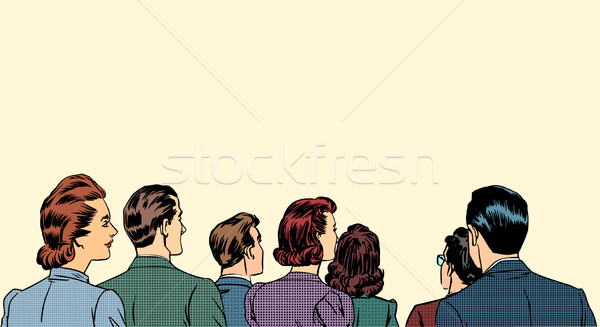 crowd spectators stand back Stock photo © studiostoks