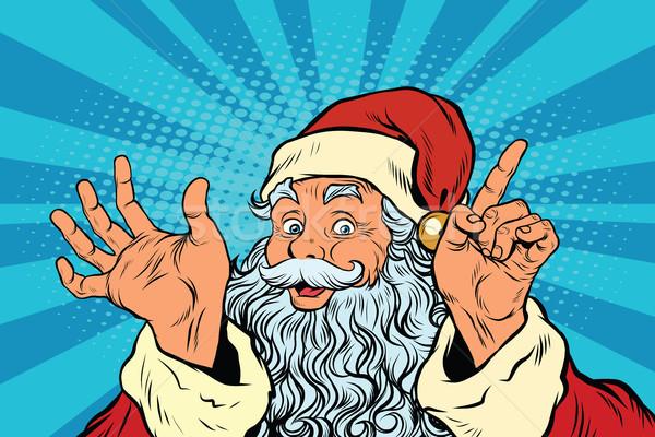 Papá noel arte pop retro ilustración Navidad año nuevo Foto stock © studiostoks
