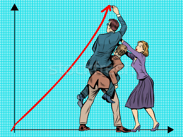 ビジネスチーム 成功 ポップアート レトロスタイル ジョイント 作業 ストックフォト © studiostoks