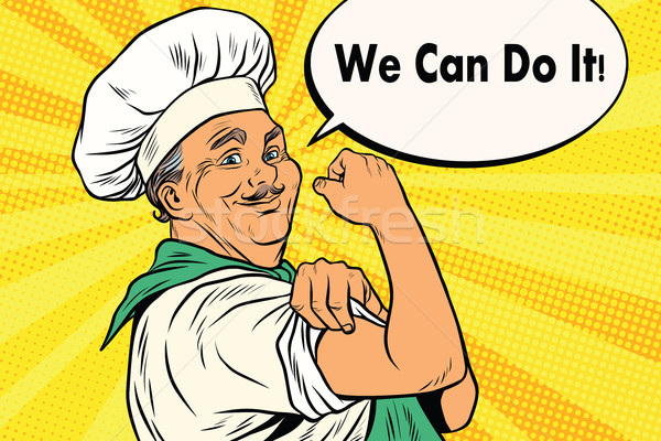 Cook gesture we can do it Stock photo © studiostoks