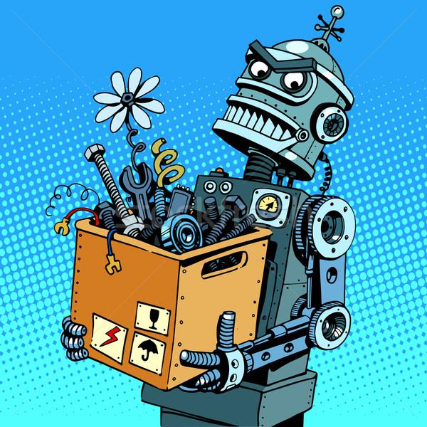 Evil robot comes to work Stock photo © studiostoks