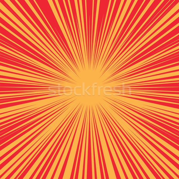 Bright burst background retro comic pop art Stock photo © studiostoks